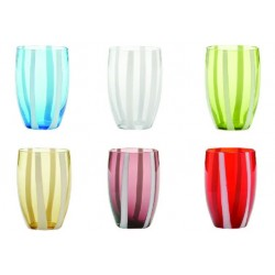 Set di 6 tumbler Gessato assortiti