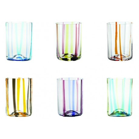 Set di 6 tumbler Tirache assortiti